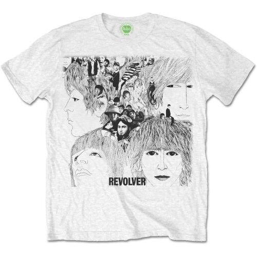 ddff2523c26 The Beatles Men s Revolver Album Cover Short Sleeve T-shirt White Large for  sale online