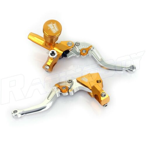 "CNC Yamaha Universal 7//8/"" Brake Clutch Pump Master Cylinder Kit Reservoir lever"