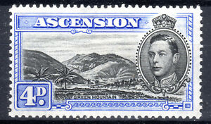 British Colonies & Territories Ascension Island 4d P131/2 Sg 42c Cat £17 1940 Lightly Mounted Mint Stamps a18810
