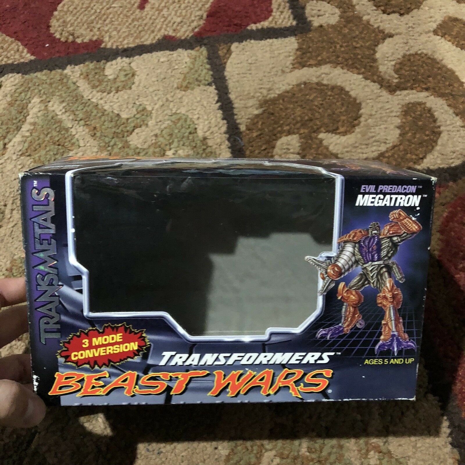 Vintage Transformers Beast Wars Transmetals Predacon Megatron Empty BOX ONLY