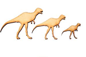 Wooden MDF Dinosaur Shapes Bunting Craft Embellishments Velociraptor Decorations