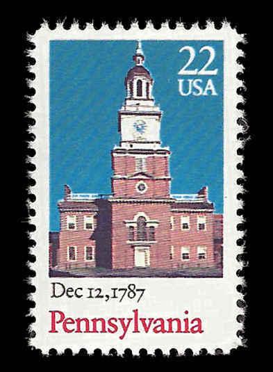1987 22c Pennsylvania Statehood Scott 2337 Mint F/VF NH