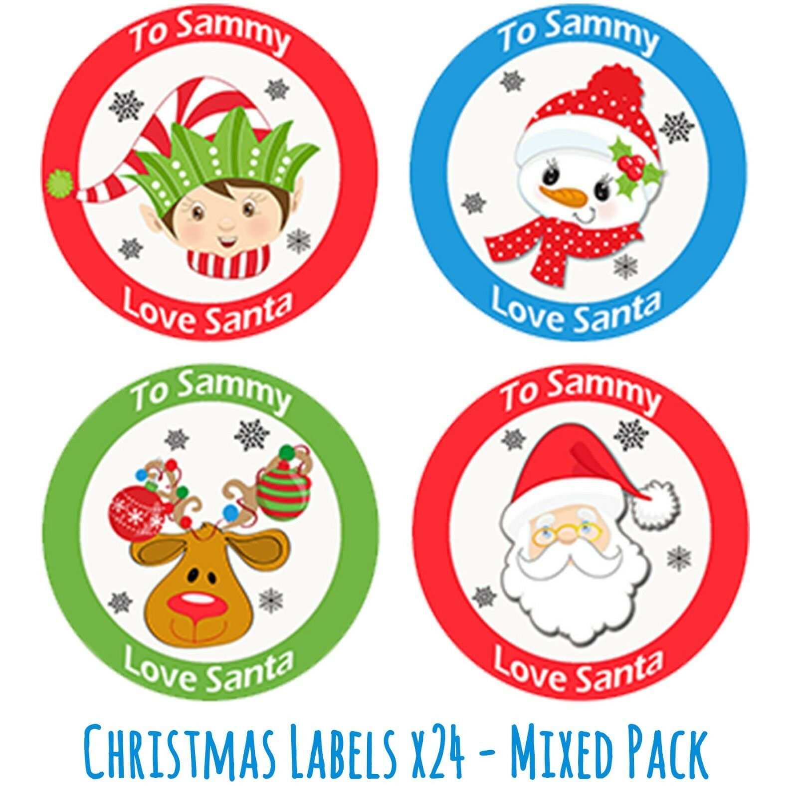Christmas Stickers.Details About 24 Personalised Christmas Stickers Gift Tag Labels Present Delivery From Santa