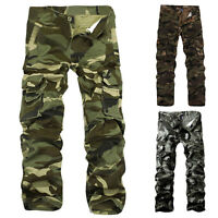 Combat Men's Cotton Cargo ARMY Pants Camouflage Camo Trousers Hot Sell Stylish