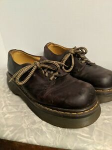 Mens Brown Leather Shoes Sz 7 EE Work