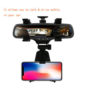 Universal-Car-Auto-Rearview-Mirror-Mount-Stand-Holder-Cradle-For-Cell-Phone-GPS