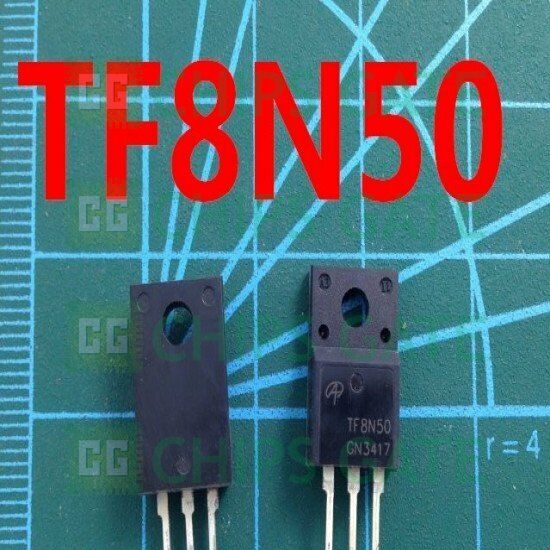 5PCS AOTF8N50 MOSFET N-CH 500V 8A TO220F 8N50