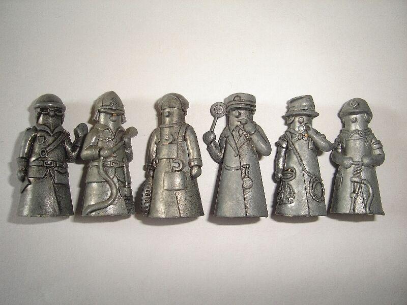 Estatuillas De Metal Set-profesiones Dedales De Hierro Vintage-Kinder Sorpresa