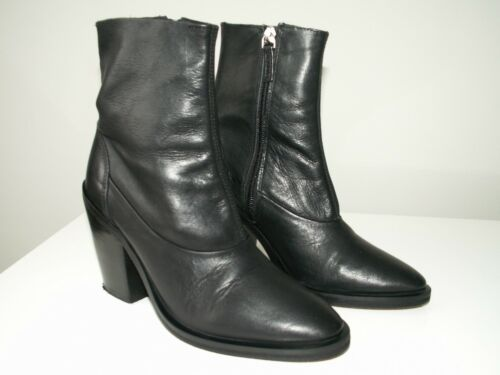 Uk 3 5 Eu Us Sock Ankle Black Leather 36 'may2' Topshop 5 Boots CPq0YY