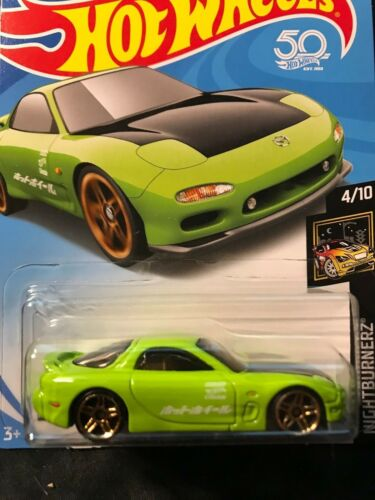Hot Wheels 95 Mazda RX-7 Green  MOMC