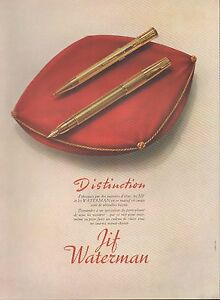 ▬► PUBLICITE ADVERTISING AD Stylo plume KIF WATERMAN Or 18 carats