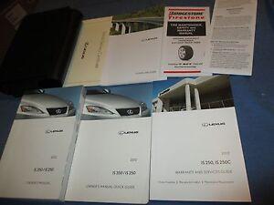 2012 lexus is 350 owners manual