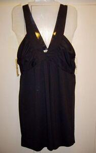 NWT-Laundry-BY-DESIGN-Black-Double-V-neck-Dress-size-Medium-retail-108
