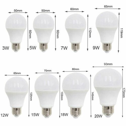 18W 20W Cool Warm White 220V 240V E27 Screw LED Globe Bulb Lamp Light 3W 5W