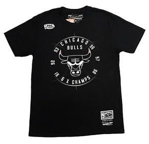 Mitchell-amp-Ness-Black-NBA-Chicago-Bulls-Champion-Seal-T-Shirt