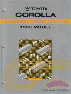 COROLLA    1993 TOYOTA    SHOP    MANUAL    SERVICE       REPAIR    BOOK ELECTRICAL WIRING    DIAGRAM      eBay