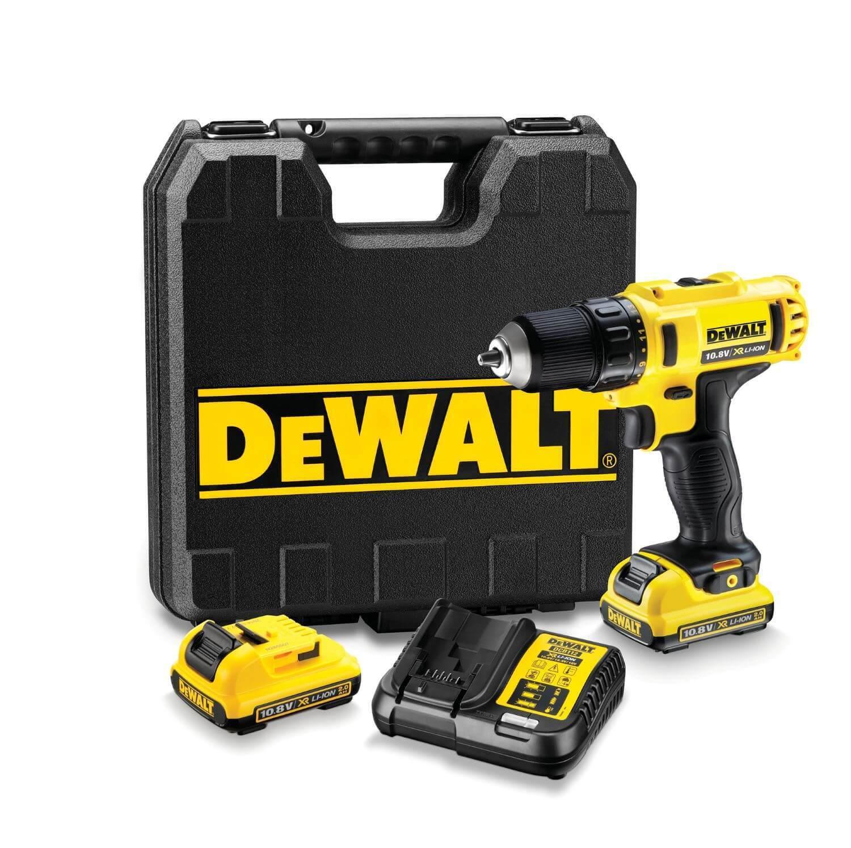 DEWALT Akku-Bohrschrauber DCD710D2 10,8 V 2x 2,0 Ah Akku, Ladegerät & Koffer