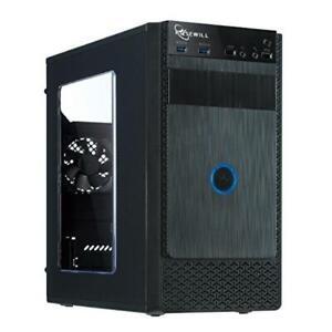Computer Case PC ATX Mini Tower Rosewill FBM-X1 Gaming Black...