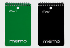 2pk Mead Memo Book 3x5 College Ruled Paper Pad Assorted Spiral Binding Notepad