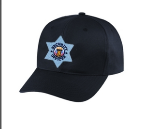 Security-hat-Silver-Star-on-black-cap-one-size-fits-all-6720