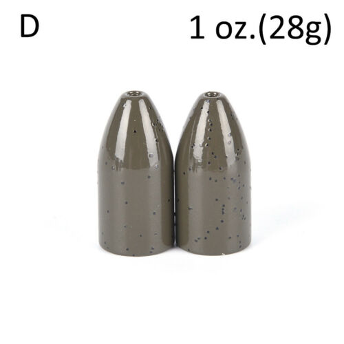 2Pcs Copper alloy Bullet Flipping Weight Fishing Sinker Lure Fishing Accessory*