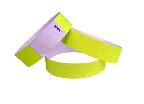 1.000 Tyvek-Eintrittsbänder bracelets identification 19 x 255 mm wristbands