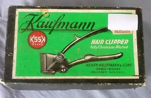 Vintage-Collectable-Kaufmann-Hair-Clipper-in-Original-Box-Germany