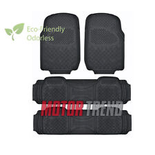 Motor Trend Ultra-Duty All Weather Car Floor Mats Van Truck Car Odorless Black
