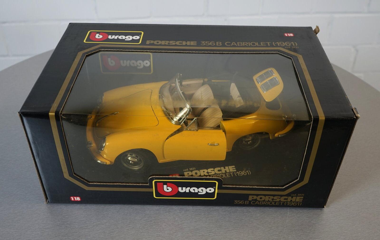 BURAGO 118 PORSCHE 356 B CABRIOLET 1961 Gituttio 3031  DieCast modellolo auto OVP