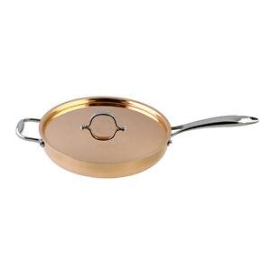 Le Chef 5 Ply Copper Saute Pan With Copper Lid 3 190 Qt