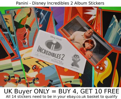 Panini Disney Pixar Incredibles 2 movie 2018 {select your} New Album Stickers