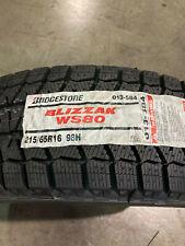 4 New 215 65 16 Bridgestone Blizzak Ws80 Snow Tires