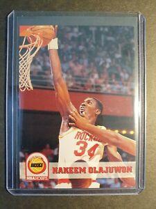 1993-94-NBA-HOOPS-Hakeem-Olajuwon-HOUSTON-ROCKETS-GREAT-CONDITION-No-81