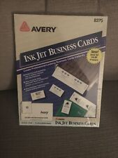 Avery Ink Jet Business Cards Ivory 250 Cards 8376 New