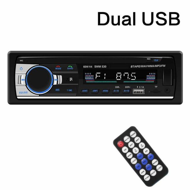 BOSS Radio de Carro para Auto USB Bluetooth AM FM Mp3 Player Receptor de Audio