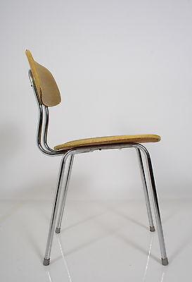 50s chair chaise a. 50 sedia  METAL STEEL CHROME & VINYL Stuhl 50er silla