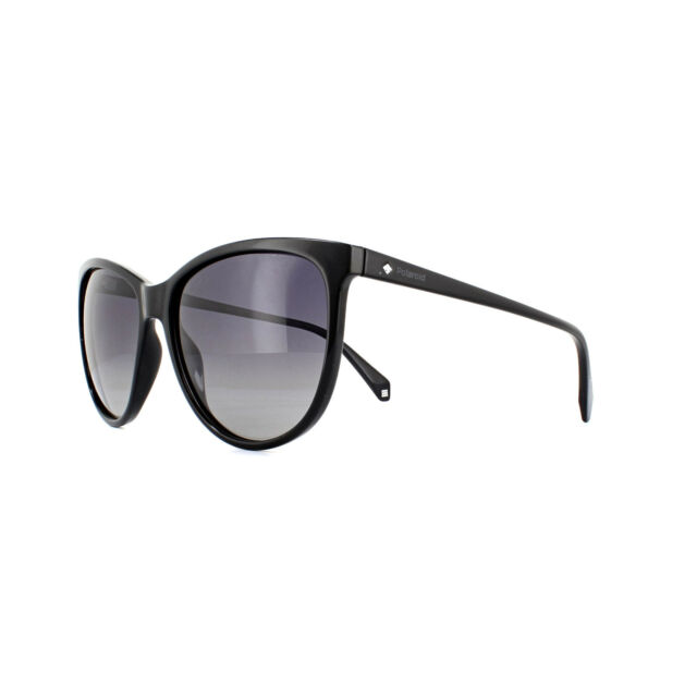 e868c9c13a8bf Polaroid Women s Shiny Black Sunglasses Polarized Grey Gradient ...