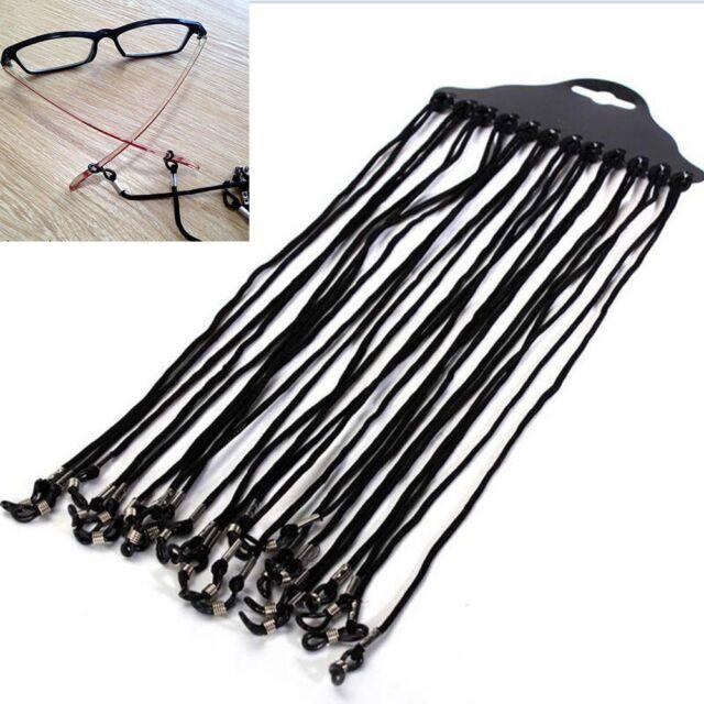 Black Eyewear Eyeglass Cord Nylon Eyeglass Neck Strap Holder Reading