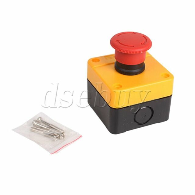 New Red Sign Emergency Stop Push Button 600V Switch for Elevator