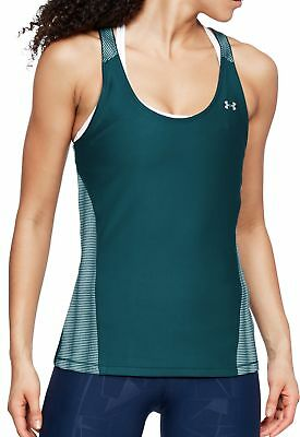 Intellektuell Under Armour Q1 Womens Running Vest Tank Top - Green