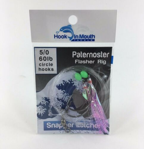 4//0 5//0 6//0 Paternoster Flathead Jew Fish Snapper Rig Flasher Fishing Rigs