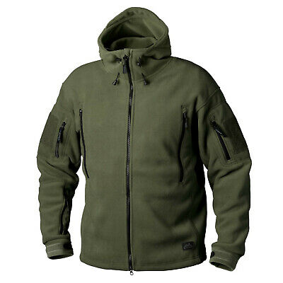 Helikon Tex Patriot Heavy Fleece Outdoor Kapuzen Jacke Jacket Oliv Green L Large