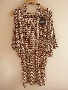 Buffalo-London-Elastic-Waist-Chevron-Print-Holiday-Beach-Dress-Uk-14-Box-38