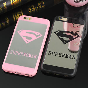 Superman mirror phone case for iphone 7 6 6s plus for Miroir 9 cases