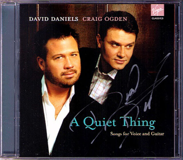 David DANIELS Signed A QUIET THING Bellini Purcell Torre Dowland Bach Gounod CD