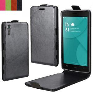 buy popular e2e1d 41cc3 Details about Luxury Vertical Magnetic Flip Phone Cover For Alcatel 5 3L 5V  U5 3V 3C 1C 1X A3