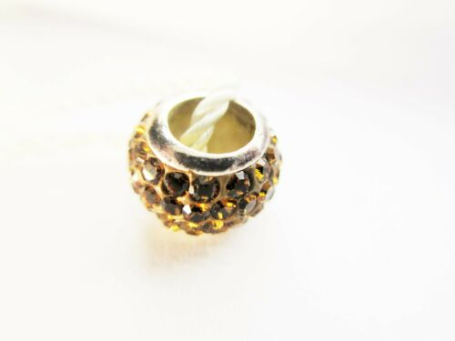 """Persona Sterling Silver /""""Quiet Poetry Gold/"""" Bead Charm H12083P2"""