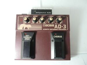 Boss-AD-3-Acoustic-Preamp-Effects-Pedal-EQ-Chorus-Reverb-Free-USA-Shipping