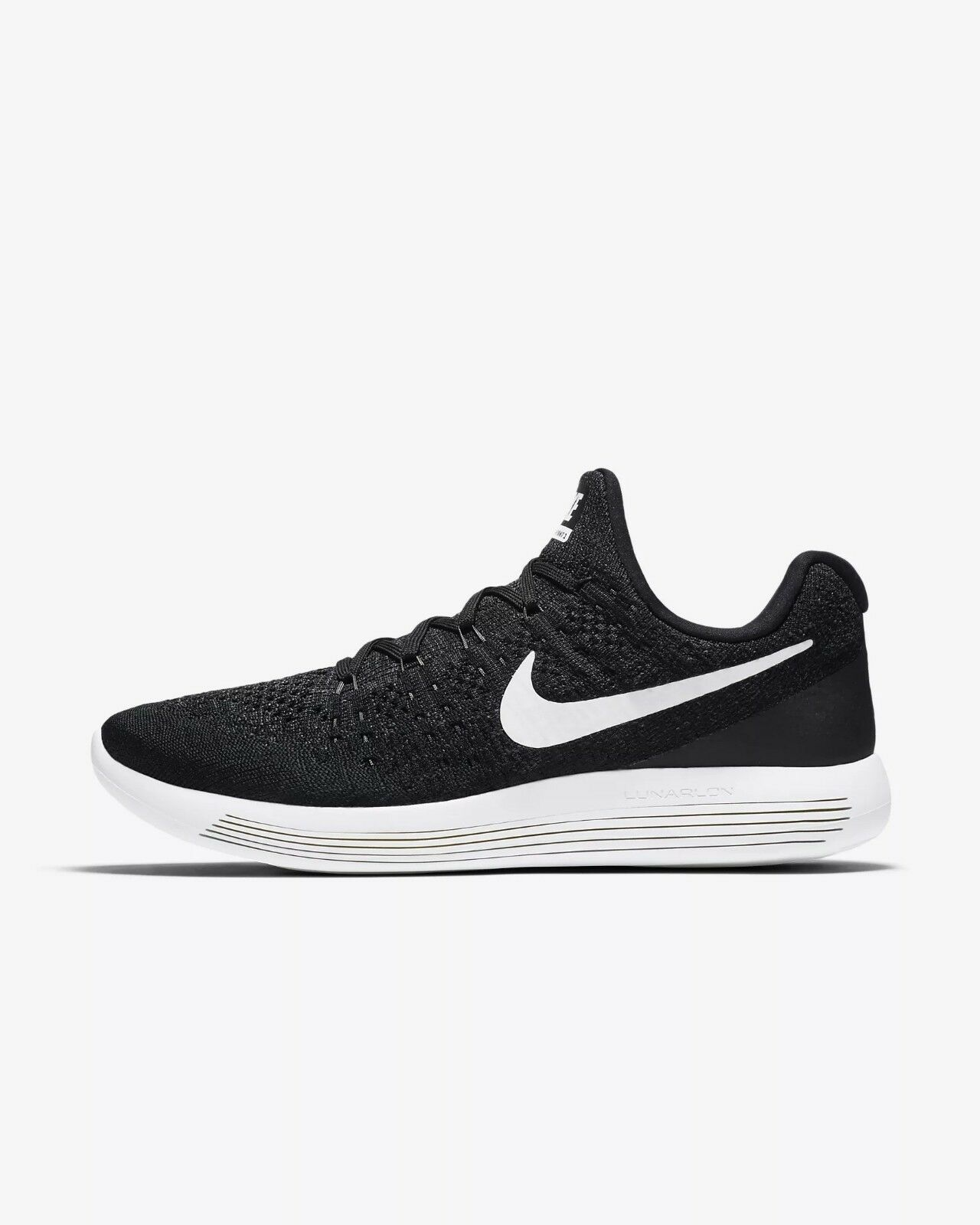 Men's Nike LunarEpic Low Flyknit 2 Running shoes, 863779 001 Mult Sizes Black Wh