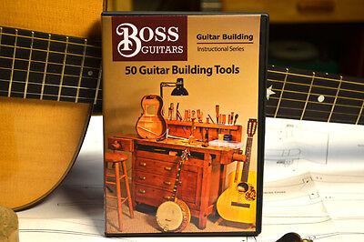 "GUITAR BUILDING: ""50 Guitar Building Tools "" DVD by Jamie Boss"